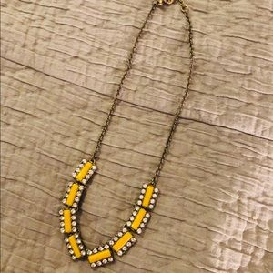 J. Crew yellow and gold necklace